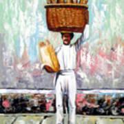 Breadman Print by Jose Manuel Abraham