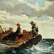 Breezing Up Print by Winslow Homer