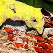 Bricks And Yellow By Michael Fitzpatrick Print by Mexicolors Art Photography