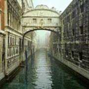 Bridge Of Sighs In Venice Print by Michael Henderson