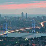 Bridge Over Bosphrous Print by Salvator Barki