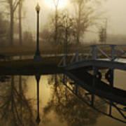 Bridge Over Still Waters Print by Wayne Archer