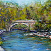 Bridge Over Wissahickon Creek Print by Joyce A Guariglia