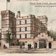 Brigade Depot Oxford England 1880 Print by Ingrefs Bell