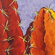 Bright Cactus Print by Sandy Tracey