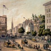 Broadway In The Nineteenth Century Print by Augustus Kollner