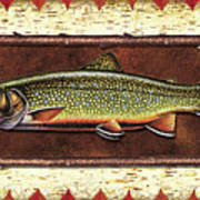 Brook Trout Lodge Print by JQ Licensing