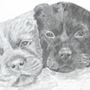 Brothers Print by DebiJeen Pencils