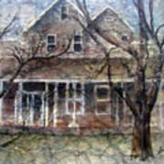 Brown Batik House Print by Arline Wagner