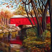 Brown County Bridge Print by Dorothy Riley