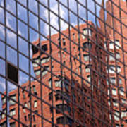 Building Reflection Print by Tony Cordoza