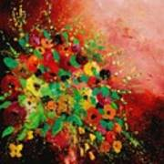 Bunch Of Flowers 0507 Print by Pol Ledent