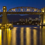 Burrard Street Bridge Vancouver Print by Naman Imagery