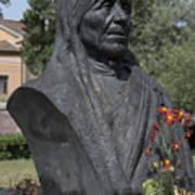 Bust Of Mother Teresa Print by Fabrizio Ruggeri