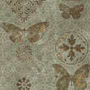 Butterfly Deco 2 Print by JQ Licensing
