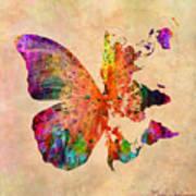 Butterfly World Map  Print by Mark Ashkenazi