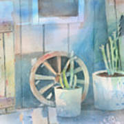 By The Side Of The Shed Print by Arline Wagner