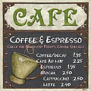 Cafe Chalkboard Print by Debbie DeWitt