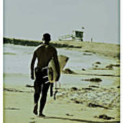 California Surfer Print by Scott Pellegrin