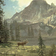 Call Of The Wild Print by Albert Bierstadt
