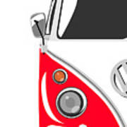 Camper Red Print by Michael Tompsett
