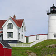 Cape Neddick Light Print by Luke Moore