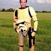 Captain James T Kirk Stormtrooper Print by Paul Van Scott
