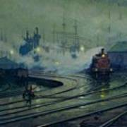Cardiff Docks Print by Lionel Walden