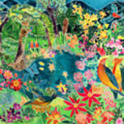 Caribbean Jungle Print by Hilary Simon