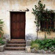 Carmel Mission Door Print by Carol Groenen