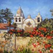 Carmel Mission Print by Shelley Cost
