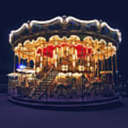 Carousel In Paris Print by Elena Elisseeva
