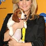 Carrie Underwood At A Public Appearance Print by Everett