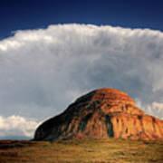Castle Butte In Big Muddy Valley Of Saskatchewan Print by Mark Duffy
