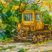 Caterpillar On Backyard Print by Natoly Art
