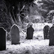Cemetery And Snow Print by Jane Rix