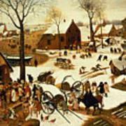 Census At Bethlehem Print by Pieter the Elder Bruegel