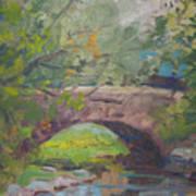 Central Park Bridge Print by Bart DeCeglie