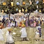 Central Park  New York City  July Fourth  Print by Maurice Prendergast