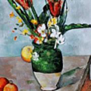 Cezanne: Tulips, 1890-92 Print by Granger