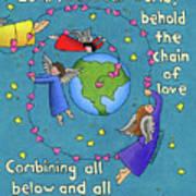 Chain Of Love Print by Sarah Batalka
