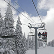 Chairlift At Vail Resort - Colorado Print by Brendan Reals