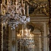 Chandelier At Versailles Print by Georgia Fowler