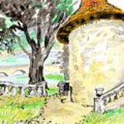 Chapel On Estate River Print by Tilly Strauss