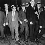 Charles Lucky Luciano In Center Print by Everett