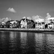Charleston Battery Row Black And White Print by Dustin K Ryan