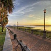 Charleston Sc Waterfront Park Sunrise  Print by Dustin K Ryan