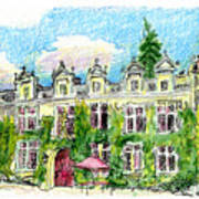 Chateau De Maumont Print by Tilly Strauss