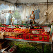 Chef - Vegetable - Jersey Fresh Farmers Market Print by Mike Savad