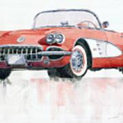 Chevrolet Corvette C1 1960  Print by Yuriy  Shevchuk